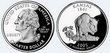 2005 S US Mint State Quarter Kansas Ks 25 Cent Proof
