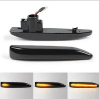 2x Dynamic LED Side Wing Indicator Repeater Light Lamp For BMW 7  DY //~