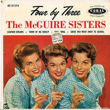 McGUIRE SISTERS four by three U.S. CORAL E.P._orig 1958 EC-81174