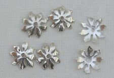 Sterling Silver Bead Cap Flower Fits  8-20mm  x 1pr