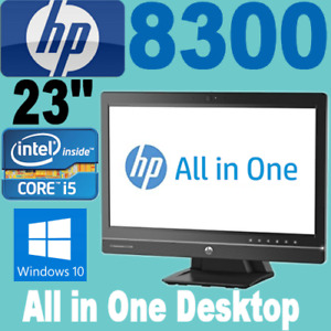 "HP Elite 8300 23""Inch (All-In-One) i5-3470 3.20GHZ 8GB 256GB SSD Wifi WIN-10 PRO"