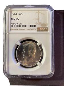 1964 Kennedy Silver Half Dollar NGC MS 65
