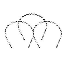 Homme Femme Serre-tête Vague Capuche Bandeau Alliage Métal Bande Cheveux Cadeau