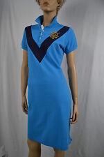 Ralph Lauren Turquoise Polo Dress/Gold Crest M NWT