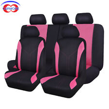 11 pcs car Seat Covers Universal fit suv pink rear seat 40/60 50/50 split