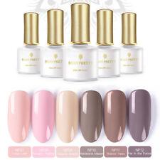 6 pcs/set Dark Nude Colors Nail Gel Polish Kit UV LED Lamp Manicure BORN PRETTY
