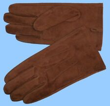 NEW MENS size 8 or Small BROWN PIG SUEDE LEATHER UNLINED GLOVES shade10500