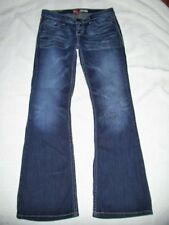 Womens Buckle BKE Sabrina Jeans Size 26 x 31 Flap Pockets BLING Boot Cut Low
