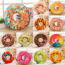 Soft Plush Pillow Stuffed Seat Pad Sweet Donut Foods Cushion Cover Removable