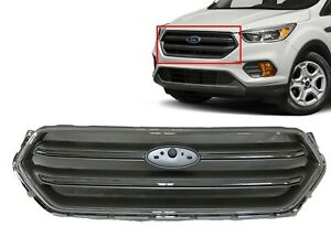 For 2017 2018 2019 Ford Escape Grille Front Bumper Upper Grille Grill Chrome