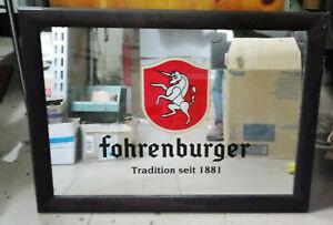 quadro-specchio pubblicita birra Fohrenburger vintage anni 80