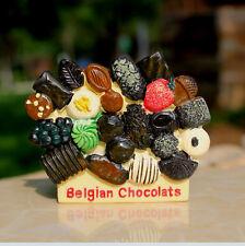 TOURIST SOUVENIR 3D RESIN FRIDGE MAGNET --- Belgian Chocolates , Belgium