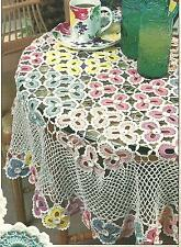 *Floral Tablecloth crochet PATTERN INSTRUCTIONS