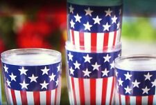 AMERICANA BEVERAGE 4 PC. TUMBLER SET 4TH OF JULY & NEW YEARS DÉCOR NEW IN BOX