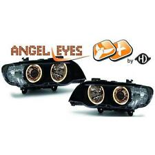 Par faros delanteros TUNING XENÓN BMW X5 99-03 negro anillos ANGEL OJO