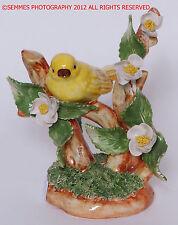 Porcelain Capodimonte one Yellow Bird Figurine Made Italy Hand Painted Beautiful