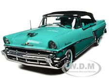 1956 MERCURY MONTCLAIR CLOSED CONVERTIBLE GREEN 1/18 MODEL CAR BY SUNSTAR 5136