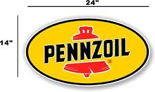 """(PENN-2) 24"""" PENNZOIL OIL LUBSTER front DECAL GAS PUMP SIGN GASOLINE"""