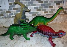 Four Large Dinosaurs Apatosaurus Brachiosaurus Stegosaurus Stryaurus T-Rex