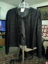 STE`NAY  WOMENS   M  100% SILK  SPARKLE   FORMAL EVENING JACKET  EXCELLENT COND.