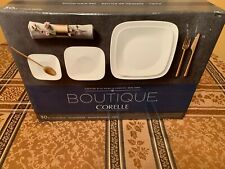 Corelle Vivid White Square 30-Piece Dinnerware Set