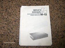 Original Luxman M-12 Owners Manual - NOT A COPY!