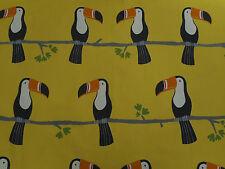 Scion Curtain Upholstery Fabric Design Terry Toucan 120464 2 Metres Tangerine..