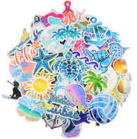 Cute Ocean/Beach Trendy Laptop Stickers (50 PC) Pack for for Laptop, Hydro Flask