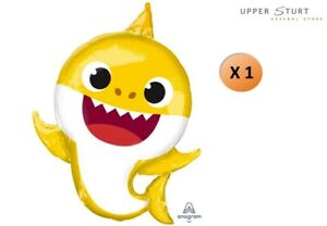 Baby Shark Supershape Foil Balloon 68cm x 91cm Party Supplies FREE SHIPPING