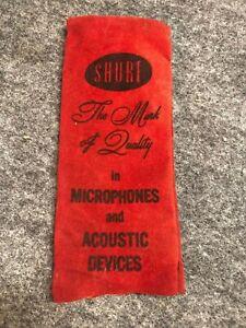Vintage Shure Antique Microphone Bag/Cover