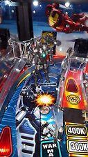 Ironman Pinball Machine Lighted War Machine Premium w/Cannon Mod