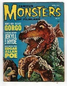 Famous Monsters of Filmland #11 Gorgo cover Edgar Allan Poe 1961 Warren magazine