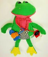 Eden Frog Bugs Baby Soft Toy Plush Squeaks Butterfly LadyBug Open Mouth