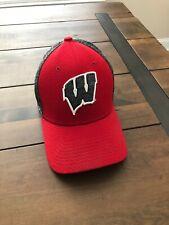 Wisconsin Badgers New Era 39Thirty Red/Grey Flex Fit Hat Men's S/M