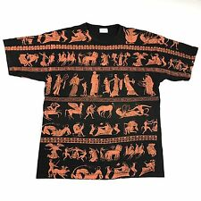 Vintage 90s All Over Print T-Shirt Mens Hieroglyphics VTG Rare Rap Tee VTG Retro