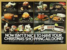 New listing 1981 West Bend Stir Crazy Poppery Wok Pot Skillets Slo-Cooker vintage print Ad