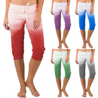 Women Casual Beach Shorts Bermuda Capri Trousers Holiday Cropped Pants Plus Size