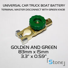 1pc New Car Cut-Off Green Switch Side Post Battery Master Disconnect Isolator