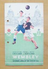 More details for england v scotland 1947 *good condition football programme*