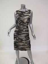 Lanvin Dress Zebra Jacquard Size 42 Sleeveless Boat Neck Sheath Dress