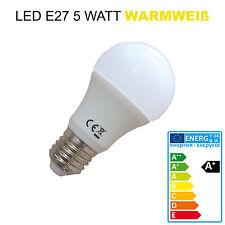 LED E27 5W warmweiß 350lm Beleuchtung Leuchtmittel Glühlampe Glühbirne Lampe