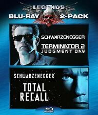 NEW BLU RAY - Terminator 2: Judgment Day + Total Recall -Schwarzenegger Double F