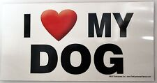 Waterproof Magnet I Heart Love My Dog Car Decor Made In USA Puppy Pet Vet Office