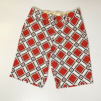 Great Men's Loudmouth Golf Shorts Red/Black/White Geometric 32
