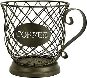 Boston Warehouse Coffee Mug Kup Keeper, Storage Basket