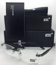 New MONTBLANC Eyeglasses MB 349 008 56-15 140 Rimless Black Frame w/ Clear