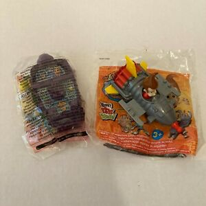 Lot of 2 Wendy's Kids Meal Jimmy Neutron 2003 Toys Shrink Ray and Spaceship