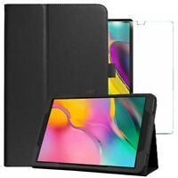 For Samsung Galaxy Tab S5e Leather Case & Glass screen Protector T720 T725