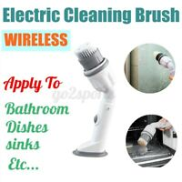 Handheld Electric Scrubtastic Wireless Spin Scrubber Cleaning Brush Floor Mop