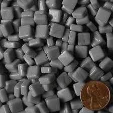8mm Mosaic Glass Tiles - 2 Ounces About 87 Tiles - Gray #3